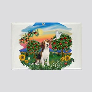 Bright Country-Beagle#1 Rectangle Magnet