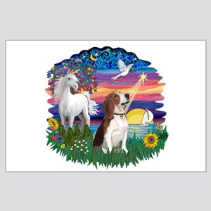 Magical Night Beagle#2B Large Poster