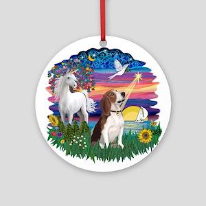 Magical Night Beagle#2B Ornament (Round)