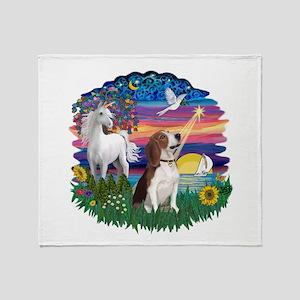 Magical Night Beagle#2B Throw Blanket