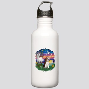 Magical Night Beagle#2B Stainless Water Bottle 1.0