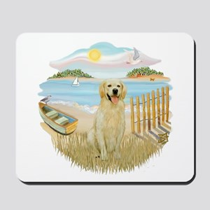 Row boat - Golden #6 Mousepad