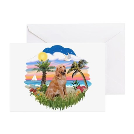 Palms-Golden#1 Greeting Cards (Pk of 10)