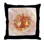 Warm Celtic Dragonfly Throw Pillow