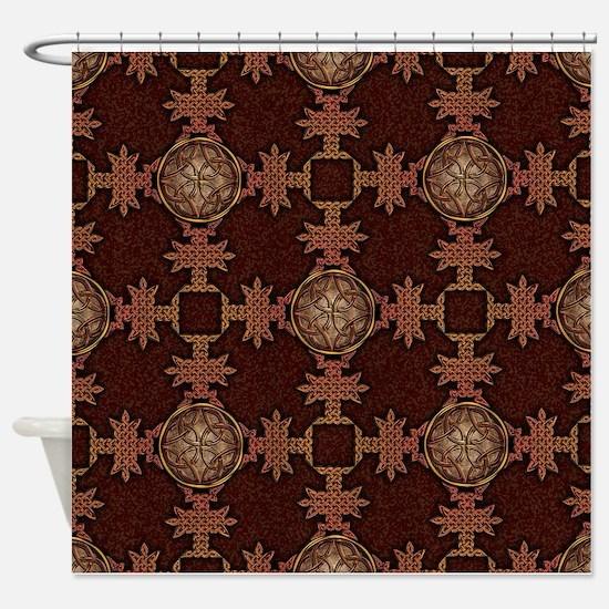 Celtic Knotwork Enamel Shower Curtain