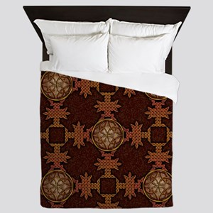 Celtic Knotwork Enamel Queen Duvet Cover