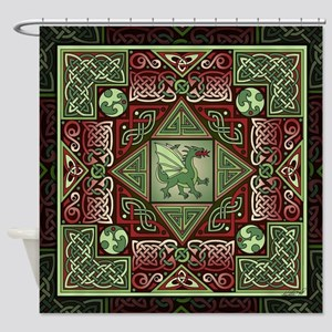 Celtic Dragon Labyrinth Shower Curtain
