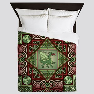 Celtic Dragon Labyrinth Queen Duvet Cover