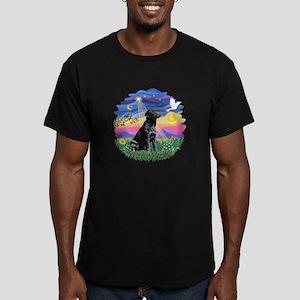 Twilight - Black Lab #3 Men's Fitted T-Shirt (dark
