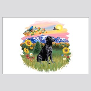 Mt Country-Black Lab# Large Poster