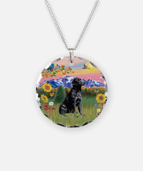 Mt Country-Black Lab# Necklace