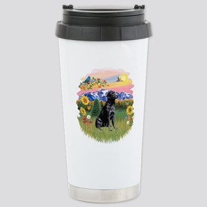 Mt Country-Black Lab# Stainless Steel Travel Mug