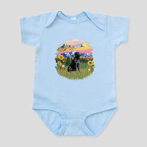 Mt Country-Black Lab# Infant Bodysuit