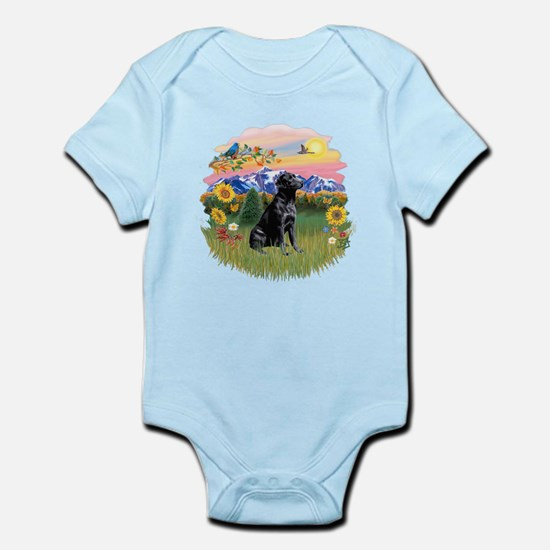 Mt Country-Black Lab# Infant Bodysuit