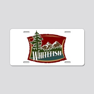 Whitefish Mountain Aluminum License Plate