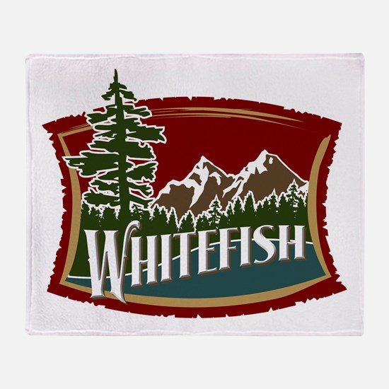 Whitefish Mountain Throw Blanket