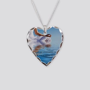 You Can Do Anything Affirmati Necklace Heart Charm
