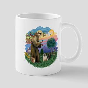 Woodland Magic-2 Pugs (B+F) Mug