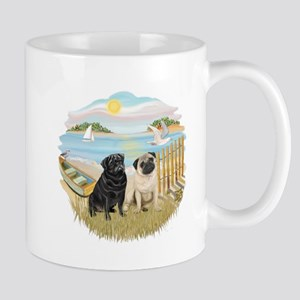 RowBoat-2 Pugs (B+F) Mug