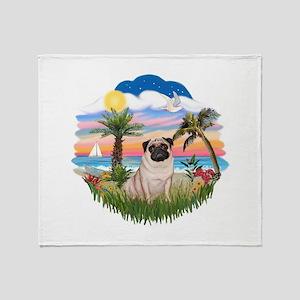 Palms - Pug #17 Throw Blanket