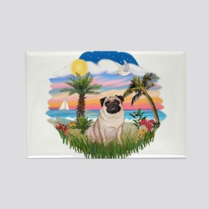 Palms - Pug #17 Rectangle Magnet