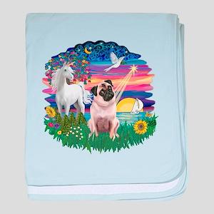 Magical Night - Pug #22 baby blanket