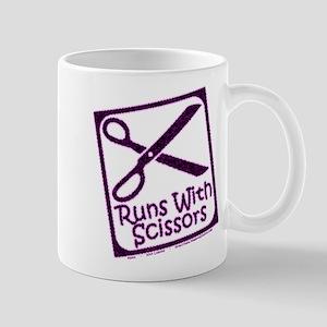 runswithscissors-on-black 11 oz Ceramic Mug