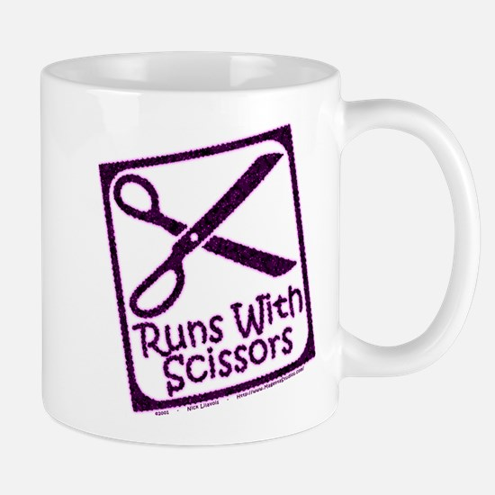 runswithscissors-on-black.png Mug