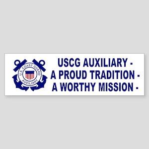 USCG Auxiliary Pride<BR> Bumper Sticker