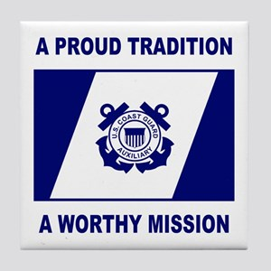 USCG Auxiliary Pride<BR> Tile Coaster