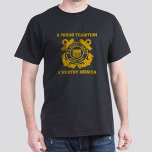 USCG Auxiliary Pride<BR> Black T-Shirt 2