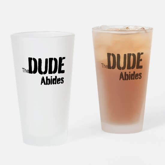 Dude Abides Drinking Glass