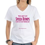 Speed Bumps Women's V-Neck T-Shirt