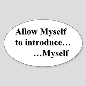 Allow Myself Sticker (oval)