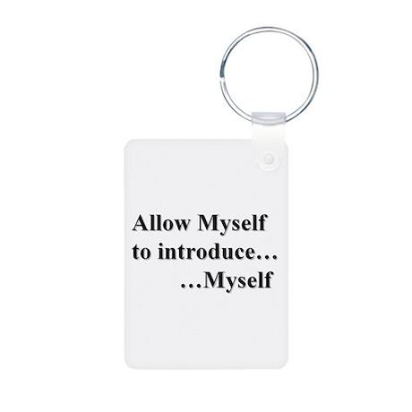 Allow Myself Aluminum Photo Keychain