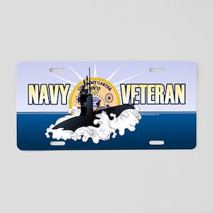 Navy Veteran SSN-23 Aluminum License Plate