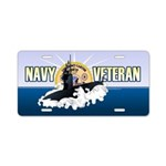 Navy Veteran SSN-23 Aluminum License Plate