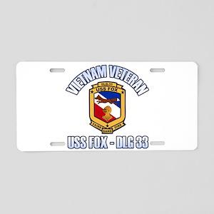 USS Fox Vietnam Vet Aluminum License Plate