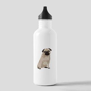 Cartoon Pug Stainless Water Bottle 1.0L