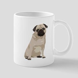 Cartoon Pug Mug