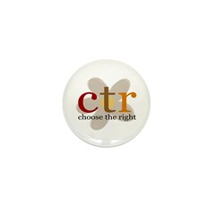 CTR brown flower Mini Button (10 pack)