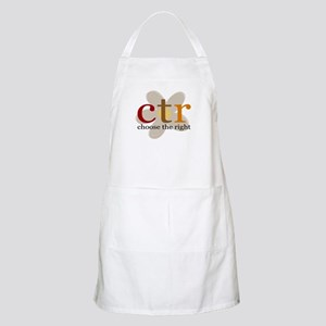 CTR brown flower BBQ Apron