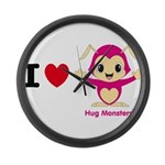 Hug Monsters® Large Wall Clock