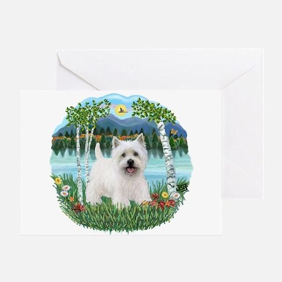 Birches - Westie 5 Greeting Card