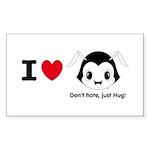 Hug Monsters® Sticker (Rectangle 10 pk)