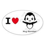 Hug Monsters® Sticker (Oval 50 pk)