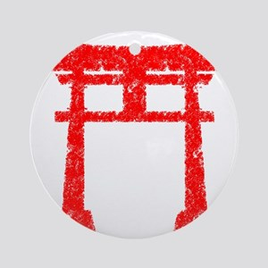 Red Torii Round Ornament