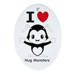 Hug Monsters® Ornament (Oval)