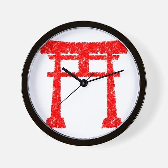 Red Torii Wall Clock