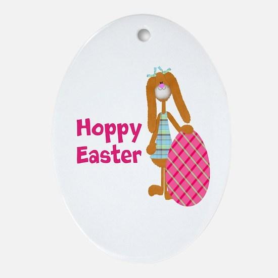 Customizable: Hoppy Easter Ornament (Oval)